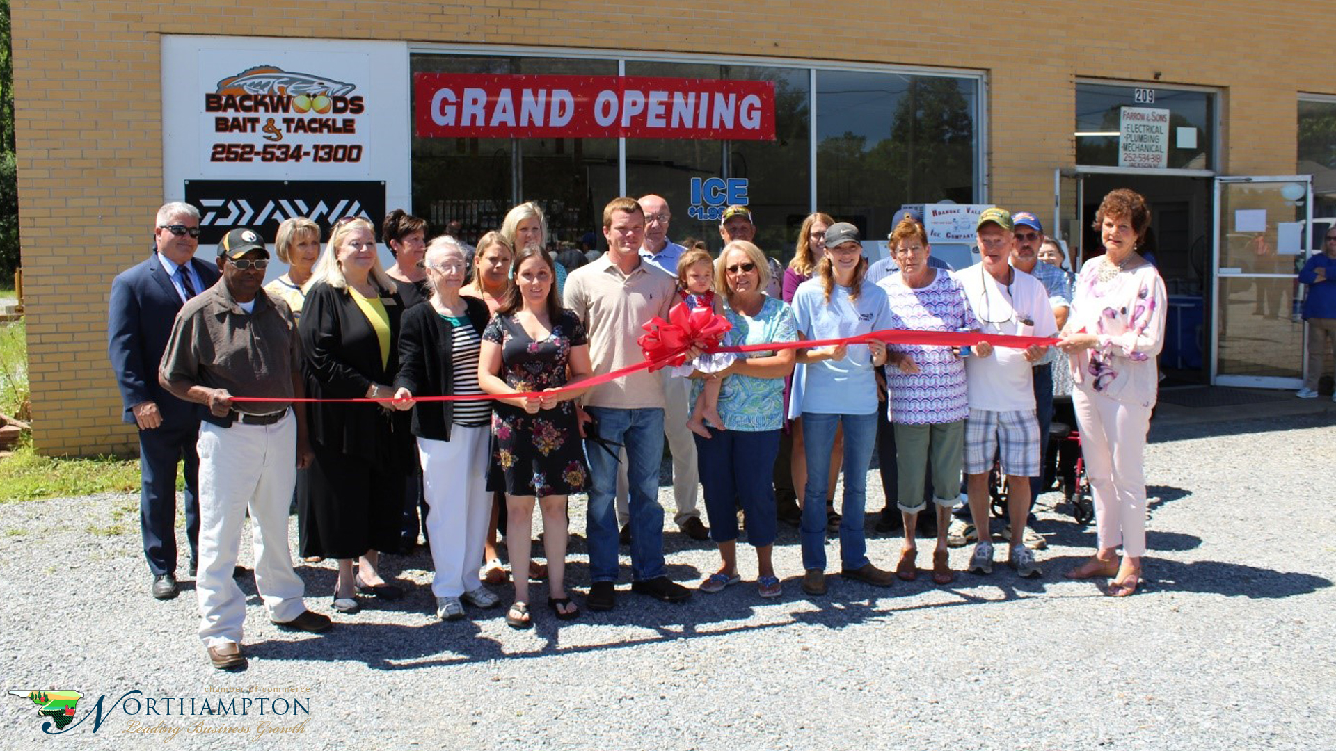 Backwoods Bait and Tackle Ribbon Cutting